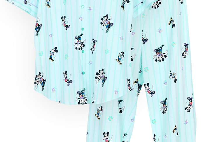 Mickey Go Thailand:Summer Flower _ Short Shirt With Long Pants