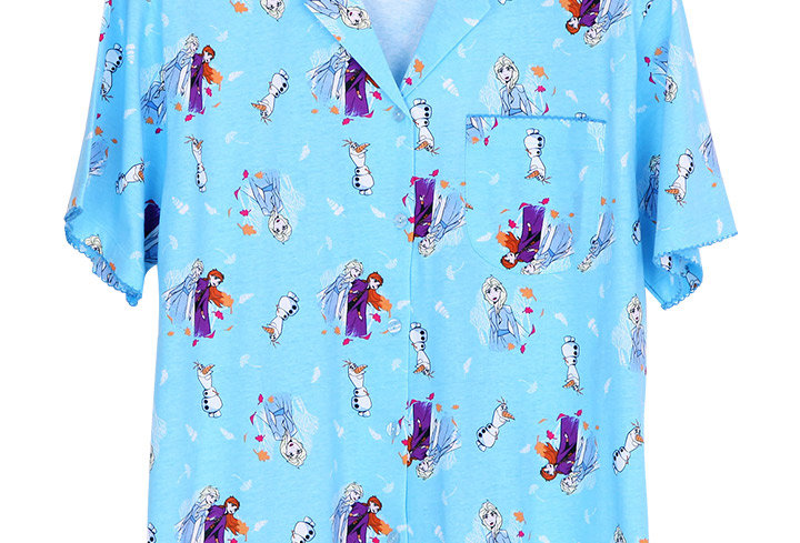 Frozen Elsa Anna Olaf _ Short Shirt With Long Pants