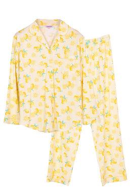Josilins Splash Lemon  _ Long Shirt With Long Pants