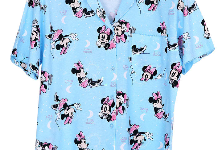 Minnie Mouse Hello Moon _Short Shirt With Short Pants