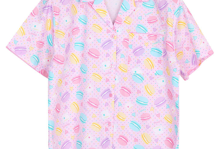 Josilins Sweetie Macarons _ Short Shirt With Long Pants