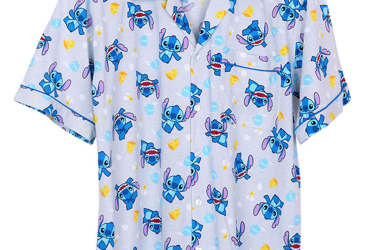 Lilo&Stitch Stitch Cheese _ Short Shirt With Long Pants