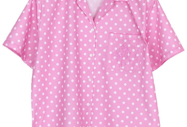 Josilins Polka Dot _ Short Shirt With Long Pants