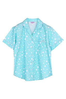 Josilins_Nighty Dot _ Short Shirt With Three Quarter Pants (XL)