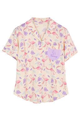 Hello Summer Hello Flamingo Collection _ Short Shirt With Short Pants