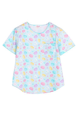 Josilins Sweetie Macarons_ Short T-Shirt With Capri Pants