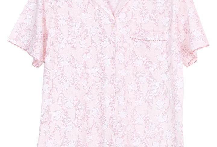Josilins Bunny meadow _Short T-Shirt With Capri Pants