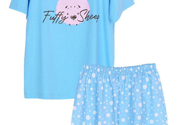 Josilins Bunny Sleeping_T-Shirt With Short Pants