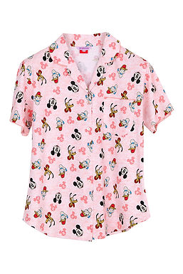Mickey Mouse Topdye_Short Shirt With Long Pants