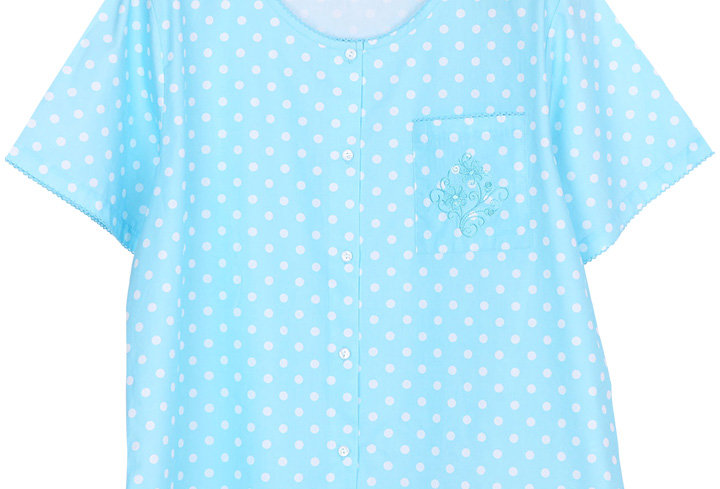 Josilins Polka Dot _ Short T-Shirt With Capri PantsXL