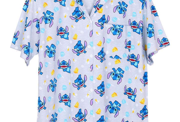 Lilo&Stitch Stitch Cheese _ Short Shirt With Long Pants