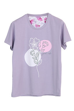 Josilins Good Life Good Vibe Carnations _T-Shirt With Short Pants