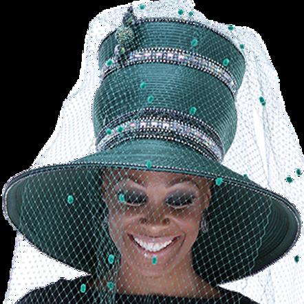 Jungle Green Crystal Crown w/ Veil