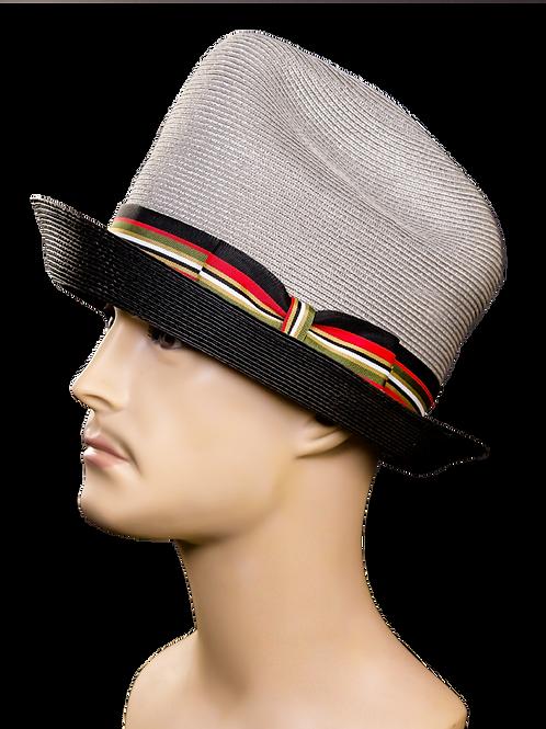 Grey/Black Top Hat