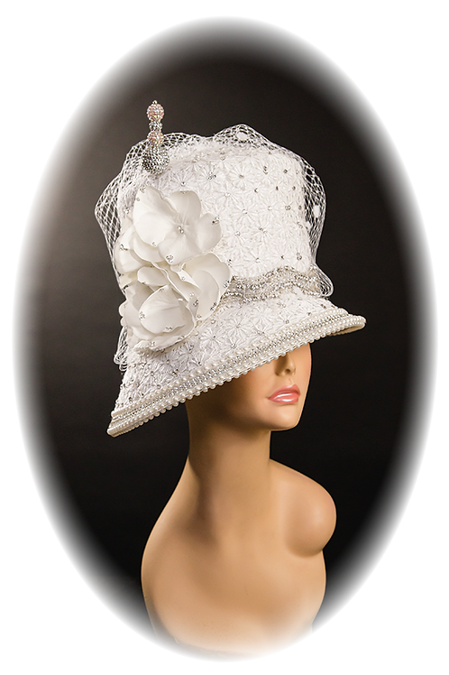 White Lace Hatter