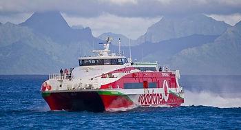 Ferris entre Tahiti y Moorea