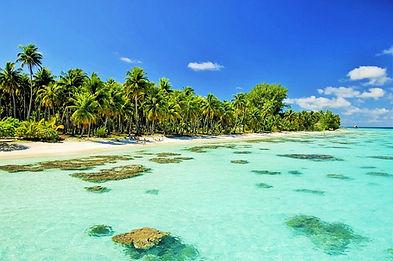 Playa en Fakarava, Islas Tuamotu, Polinesia Francesa