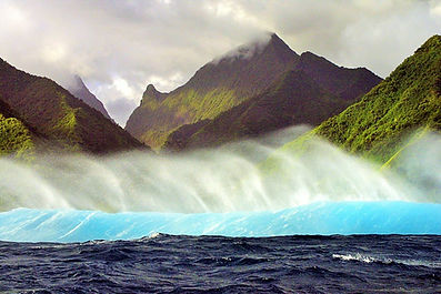 Costa de Teahupoo, Tahiti, Polinesia Francesa
