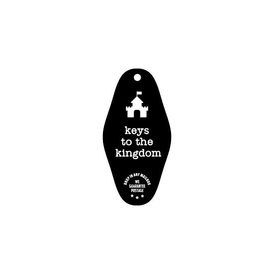 keys to the kingdom vintage hotel key tag