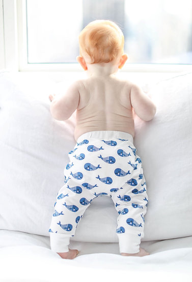 Boo Boo Harem Pants - Blue Whale