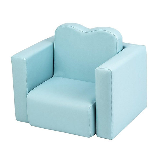 Children Sofa Multi-Functional Sofa Table and Chair Set Sky Blue Baby