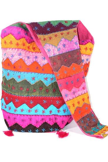 Carnival Wave Patchwork Jhola Bag