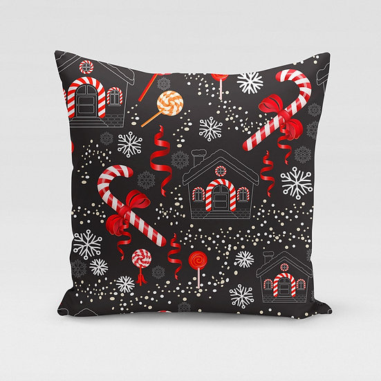 Candy Cane Pillow Cover