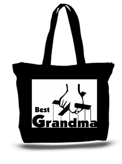 Large  Tote Grocery & Stuff Bag Best Grandma