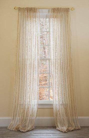 ML16610 Tafetta Stripe Sheer Curtain