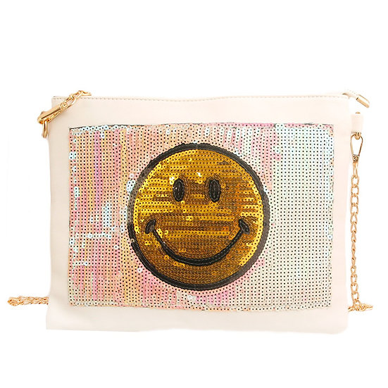 Smile Sequin Clutch