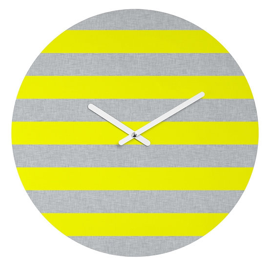 YELLOW LINES WALL CLOCK