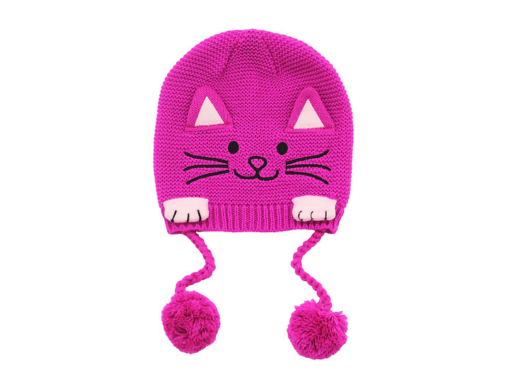 Lucky Cat Knit Hat