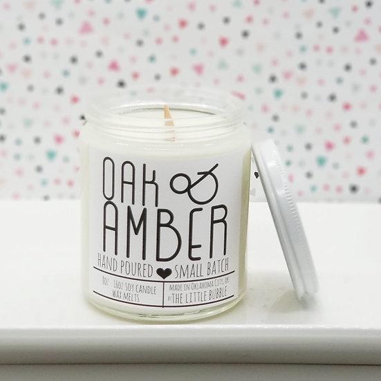 Oak & Amber ~ Soy Candle