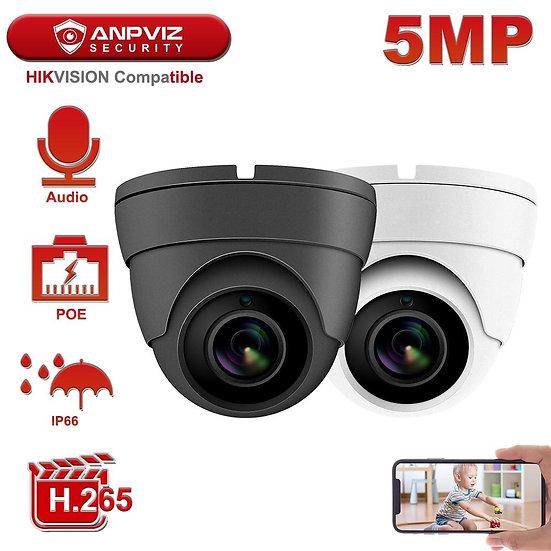 Hikvision Compatible Anpviz 5MP POE IP Camera Outdoor/Indoor 2592 x