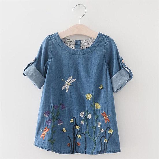 Toddler Kids Baby Girls Dress Summer Clothes Half