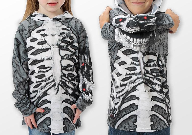 SKELETON in GREY Hoodie Sport Shirt by MOUTHMAN®