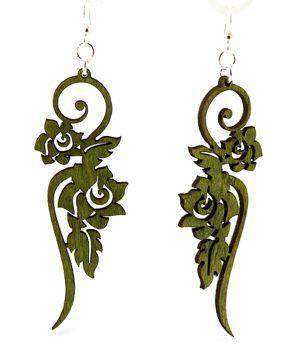 Long Flower Earrings # 1015