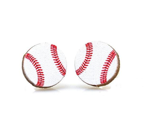 Baseball Stud Earrings #3068