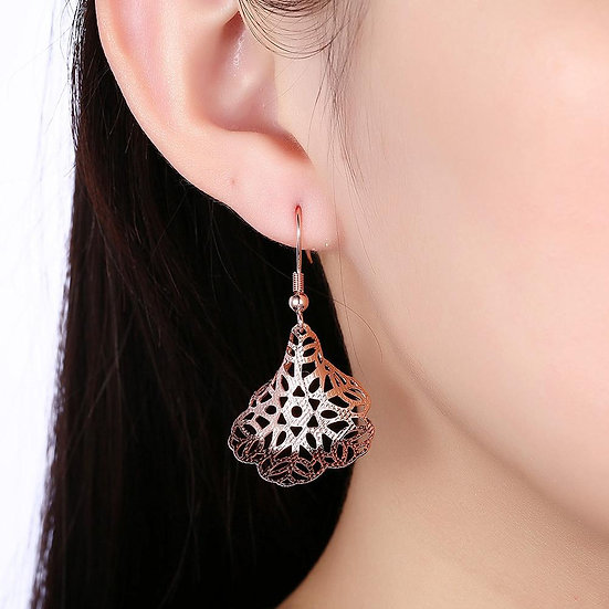 Oviedo Drop Earring in 18K Rose Gold Plated