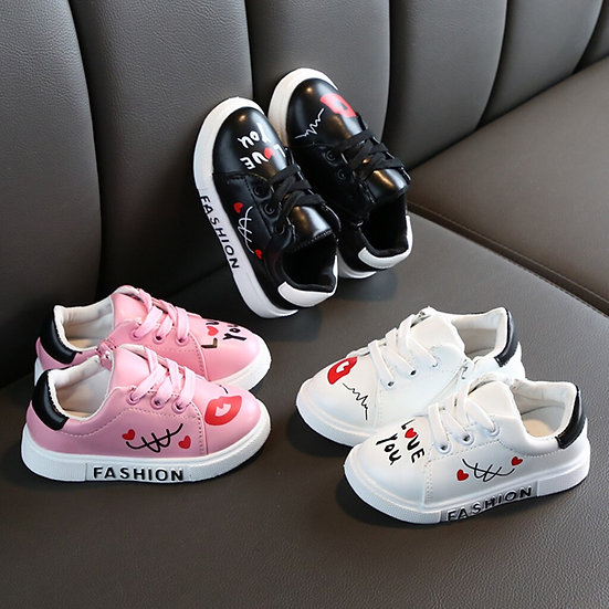 Toddler Kids Baby Boys Girls Sneakers Lacing Up