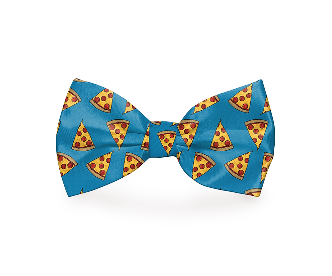I Usually Only Get The Crust Pizza Dog Bow Tie