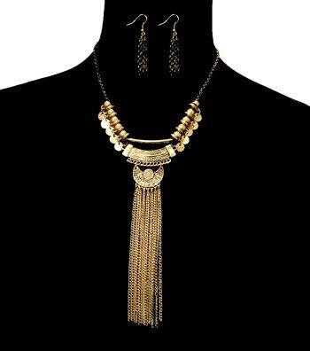 Tassel Metal Necklace Set