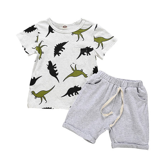 Infant Baby Kids Boys Cartoon Dinosaur Printed