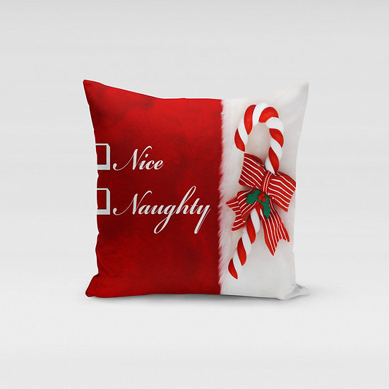 Naughty or Nice Pillow Cover