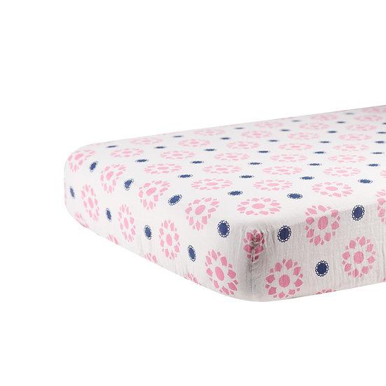 Primrose Indigo Crib Sheet