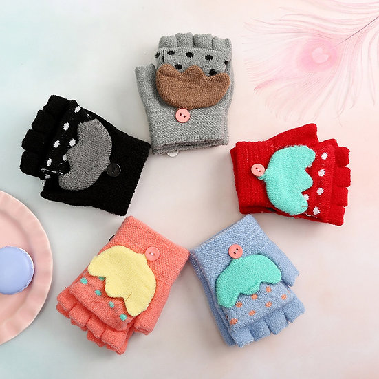 Children Baby Gloves Kids Girls Boys Winter
