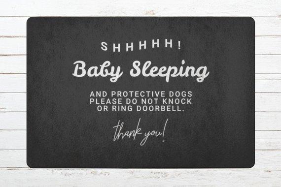 Doormat Door mat Housewarming Gift Shhhhh! Baby