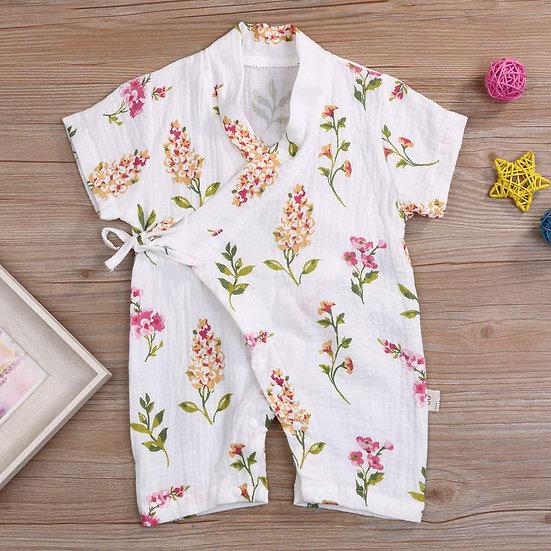 Newborn Infant Baby Boys Girls Short Sleeve Print