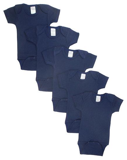 Navy Bodysuit Onezies (Pack of 5)