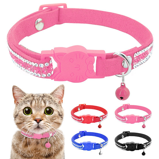 Cat Collar Crystal Cats Accessories Pets Dog Quick